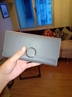 Fashionable thick leather long wallet phone holder too