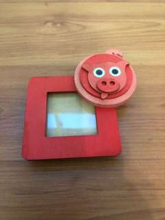 Cute red piggy mini photo frame from Italy