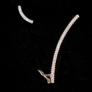 S925 APM 純銀 閃石 耳環