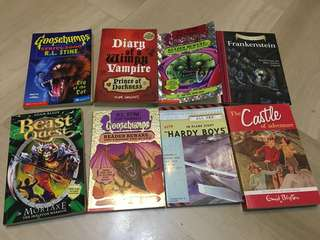Goosebumps books (8 books )