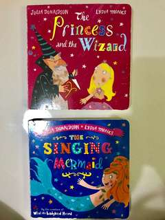 Children's books (Princess & Mermaid)- hard cover & pages