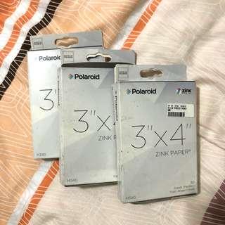 Brand New 3 x Polaroid 3x4 Zink Paper