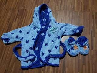 Baby Bath Robe with Booties