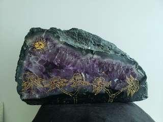 巨大紫水晶塊