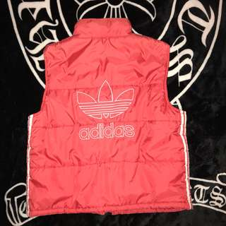 🚚 古著 日本 老品 80s Adidas Originals 三葉草 三線條 電繡大LOGO 立領 背心