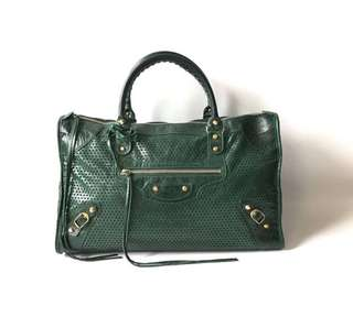 Balenciaga Work emerald Green GHW