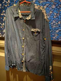 XL Long sleeve demin shirt