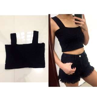 Cropped Chunky Strap Top