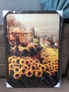 向日葵壁画 Sunflower wall painting 50mm*70mmH