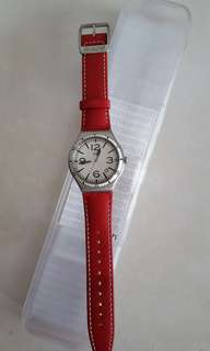Swatch CATERHRED leather strap YWS403