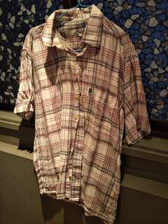 Checkers Shirt Grey Red
