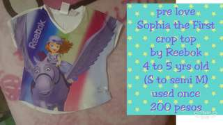 Pre love Sophia the First crop top