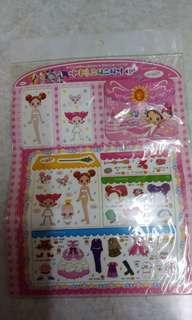 小魔女dorime貼紙玩具