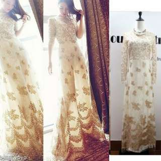 Long dress white gold