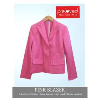 Pink Blazer, Jas Import branded, size L