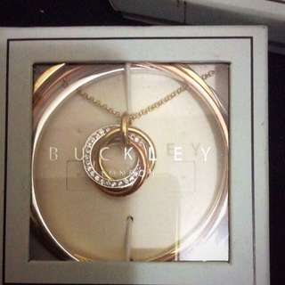 Buckley London Russian Sparkle Trio Bangle And Necklace