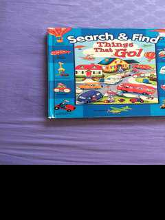 Search and find hardboard book. Vehicles seroes