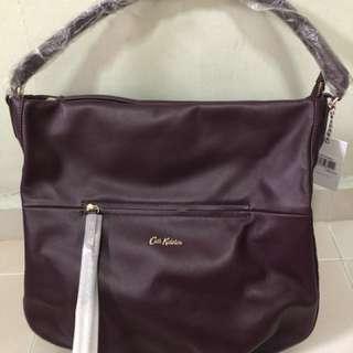 Cath Kidston Leather Hobo Handbag (Authentic)
