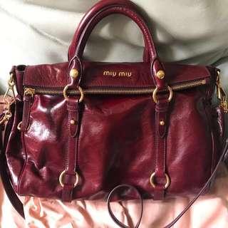 Miu Miu Two Way Bow Bag Red