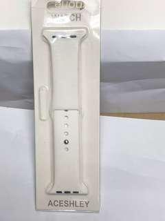 平果 iWatch 42mm 全包透明套 / 白色表帶