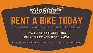 AloRide - #1 Motorbike Rental Service in SG