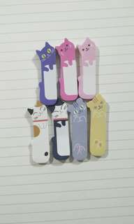 Cute Cats Sticky BookMark/Sticky Tag ( all colours avail )