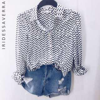 [FREE ONGKIR] Zigzag Shirt