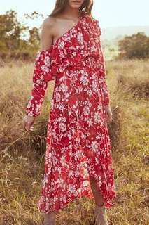 Steele Wildflower Shoulder Dress
