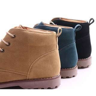 Lace Up Boots With Natural Sole For Men