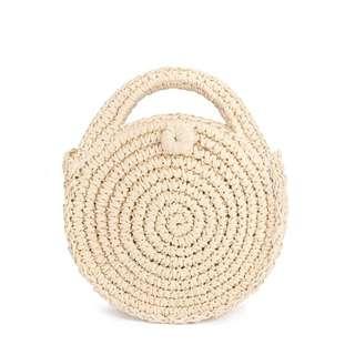 Round Straw Bag 🌙