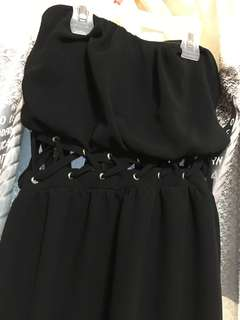 Black Gothic High-Low Dress
