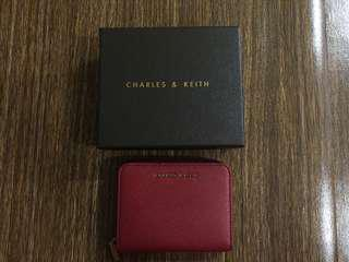 Charles and Keith Mini Wallet (Red)