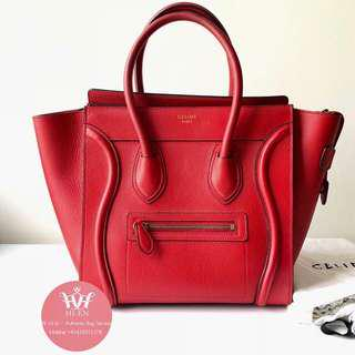 CELINE luggage micro in red