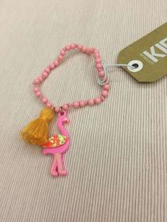 Pink Flamingo bracelet for girls by Cotton On