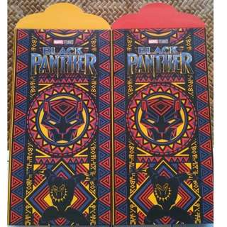 6 pcs Marvel Black Panther Red Packet / Ang Bao Pow Pao Pau / Sampul Duit