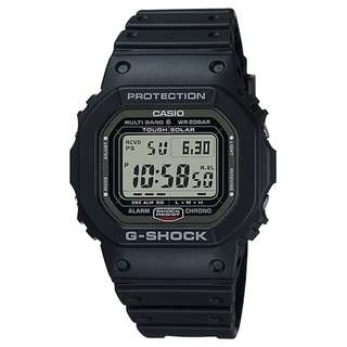CASIO G-SHOCK GW-5000 MULTI BAND 6 電波受信機能 TOUGH SOLAR 光動能 黑色 GSHOCK GW5000