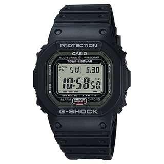 CASIO G-SHOCK GW-5000 MULTI BAND 6 電波受信機能 TOUGH SOLAR 光動能 黑色 GSHOCK GW5000