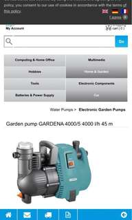 Electronic Garden pumps