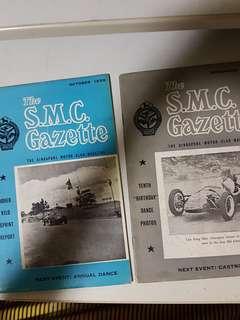 Vintage 1958 Singapore Motor Club Gazette
