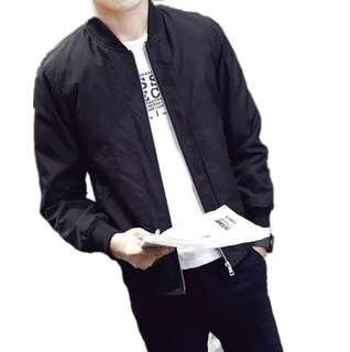(BN) Black Bomber Jacket