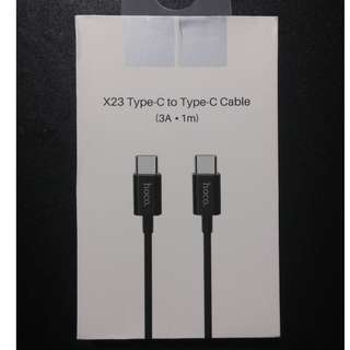 D:\ToHOCO X23 Type-C to Type-C Charging Data Cable X23 Type-C to Type-C Cable (3A . 1m) (Black)