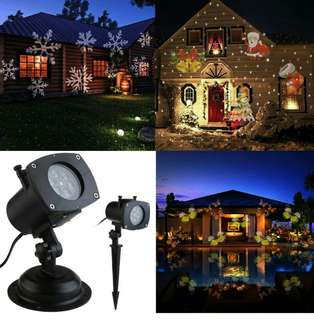 (285) LEORX Light Projector 12 Pattern for New Year, Christmas, Hallo…