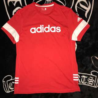 🚚 古著 Adidas climalite 大LOGO 數字 三線條 透氣網眼 休閒上衣 運動上衣