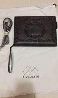 Aivedette 大容量男女式信封包手抓包 休閒商務軟皮