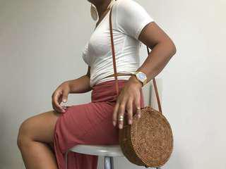 Medium sized bali rattan bag