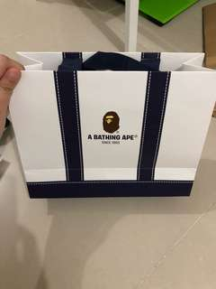 Bape Authentic Shopping Bag 25cm x 10cm x 18cm
