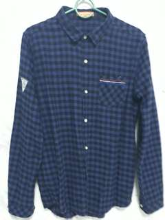 BN boys checkered shirt (blue)