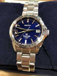 Grand Seiko 10th Anniversary GMT limited edition SBGM029 藍面金針 舊版GS Seiko logo