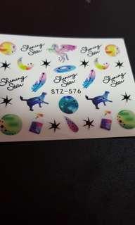 Water Nail Art Sticker