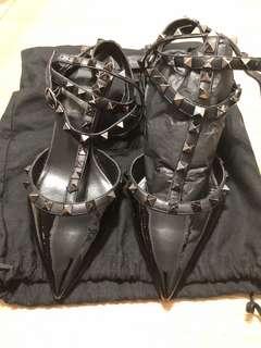 Valentino rockstud black pumps size 36